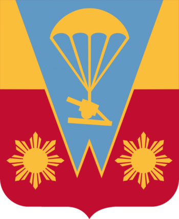 Coat of arms (crest) of the 674th Airborne Field Artillery Battalion, US Army