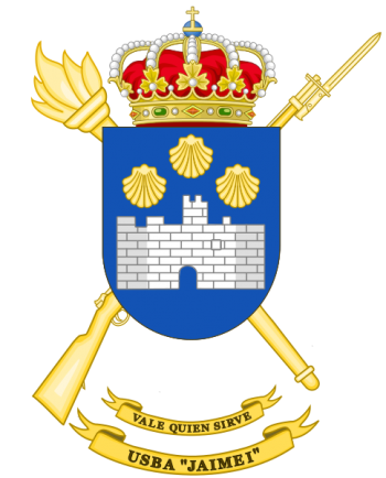 Coat of arms (crest) of the Base Services Unit Jaime I, Spanish Army
