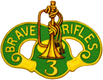 Arms of 3rd Cavalry Regiment, US Army