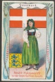 Arms, Flags and Folk Costume trade card Denmark