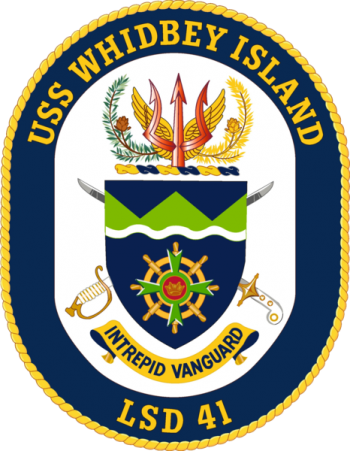 Coat of arms (crest) of the Dock Landing Ship USS Whidbey Island (LSD-41)