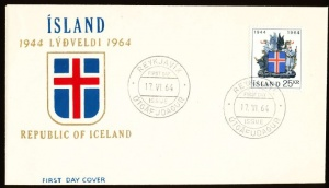 Arms (crest) of Iceland (stamps)