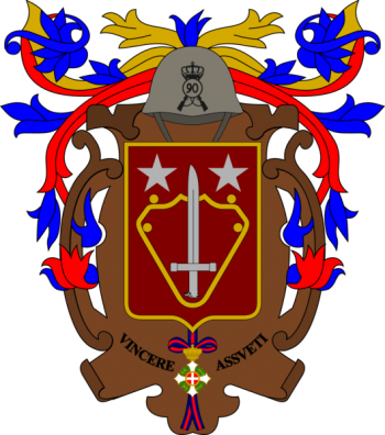 Coat of arms (crest) of the 90th Infantry Regiment Salerno, Italian Army