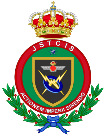 Coat of arms (crest) of the Chief of the Technical Services, Information Systems and Telecommunications, Spanish Air Force