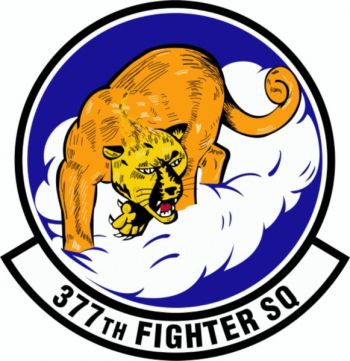 Coat of arms (crest) of the 377th Fighter Squadron, US Air Force