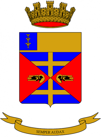 Coat of arms (crest) of the 7th Tank Battalion M.O. di Dio, Italian Army