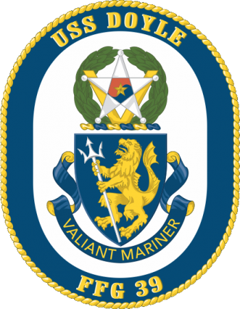 Coat of arms (crest) of the Frigate USS Doyle (FFG-39)