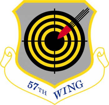 Coat of arms (crest) of the 57th Wing, US Air Force