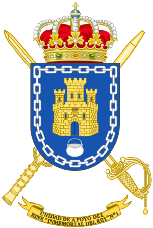 Support Unit of Infantry Regiment Inmemorial del Rey No 1, Spanish Army.png