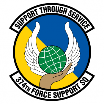 Coat of arms (crest) of the 374th Forces Support Squadron, US Air Force