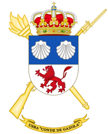 Coat of arms (crest) of the Base Services Unit Conde de Gazola, Spanish Army