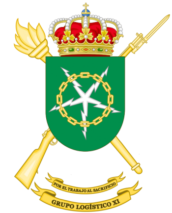 Coat of arms (crest) of the Logistics Group XI, Spanish Army