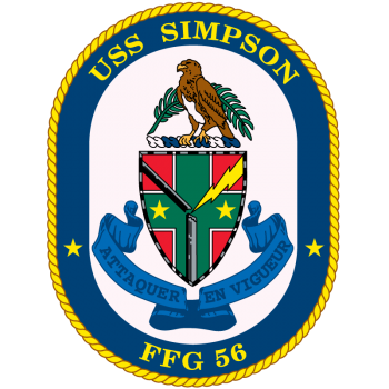 Coat of arms (crest) of the Frigate USS Simpson (FFG-56)