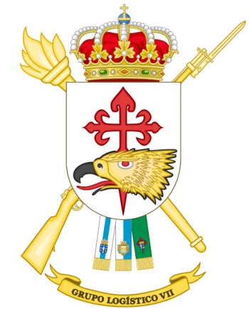 Coat of arms (crest) of the Logistics Group VII, Spanish Army