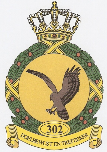 Coat of arms (crest) of the 302nd Squadron, Netherlands Air Force