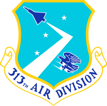 Coat of arms (crest) of the 313th Air Division, US Air Force