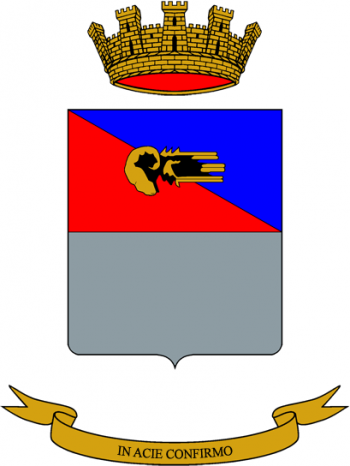 Coat of arms (crest) of the Ariete Divisional Logistics Battalion, Italian Army