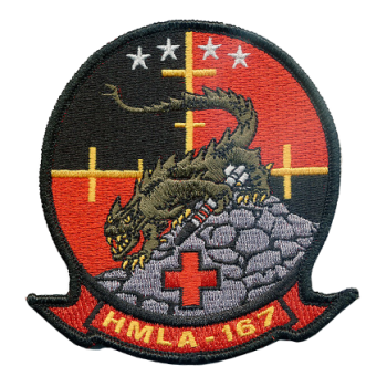 Coat of arms (crest) of the Marine Light Attack Helicopter Squadron (HMLA)-167 Warriors, USMC
