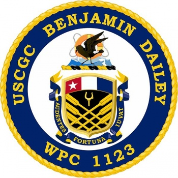 Coat of arms (crest) of the USCGC Benjamin Dailey (WPC-1123)