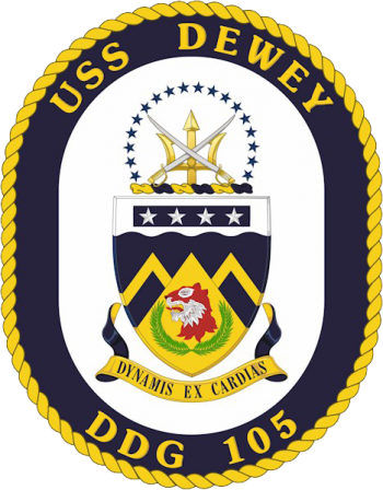 Coat of arms (crest) of the Destroyer USS Dewey (DDG-105)