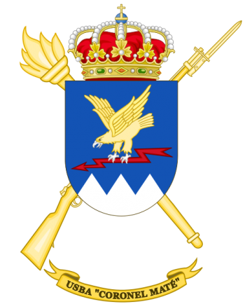 Coat of arms (crest) of the Base Services Unit Coronel Maté, Spanish Army