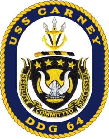 Coat of arms (crest) of the Destroyer USS Carney