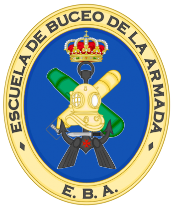 Coat of arms (crest) of the Navy Divers School, Spanish Navy