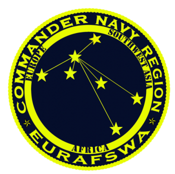 Coat of arms (crest) of the Navy Region Europe, Africa and Southwest Asia, US Navy