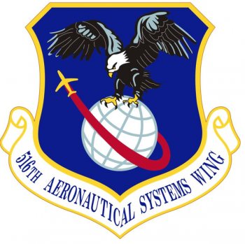 Coat of arms (crest) of the 516th Aeronautical Systems Wing, US Air Force