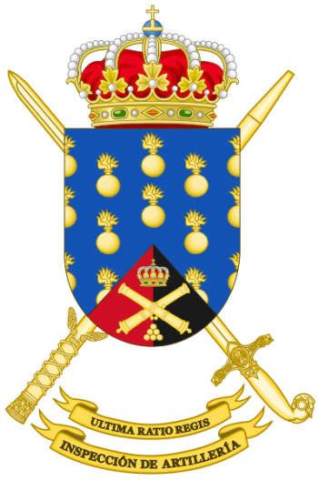 Coat of arms (crest) of the Artillery Forces Inspector's Office, Spanish Army