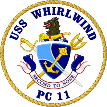 Coat of arms (crest) of the Coastal Patrol Ship USS Whirlwind (PC-11)