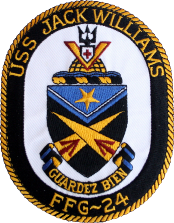 Coat of arms (crest) of the Frigate USS Jack Williams (FFG-24)