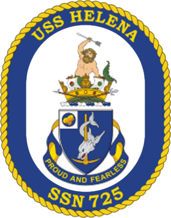 Coat of arms (crest) of the Submarine USS Helena(SSN-725)