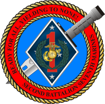 Coat of arms (crest) of the 2nd Battalion, 7th Marines, USMC