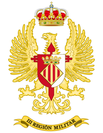Coat of arms (crest) of the III Military Region, Spanish Army