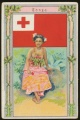 Arms, Flags and Folk Costume trade card Tonga