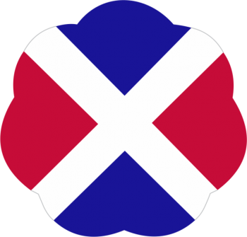 Coat of arms (crest) of the 17th Infantry Division (Phantom Unit), US Army