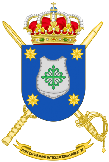 Coat of arms (crest) of the Brigade Extremadura XI Headquarters Battalion, Spanish Army