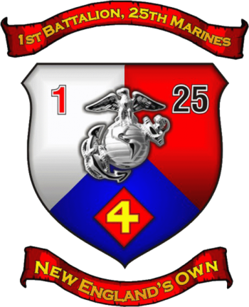 Coat of arms (crest) of the 1st Battalion, 25th Marines, USMC