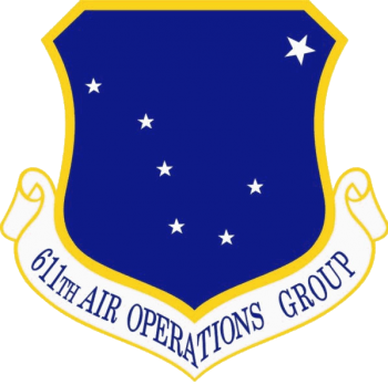 Coat of arms (crest) of the 611th Air Operations Group, US Air Force