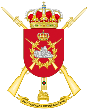 Armoured Infantry Regiment Alcázar de Toledo No 61, Spanish Army.png