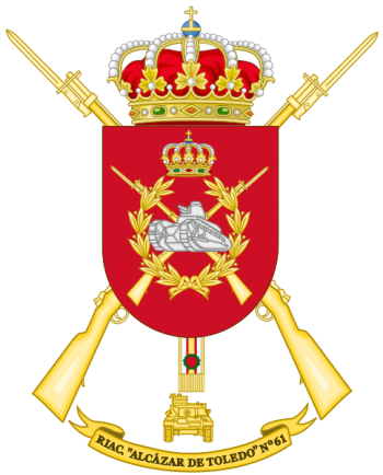 Coat of arms (crest) of the Armoured Infantry Regiment Alcázar de Toledo No 61, Spanish Army