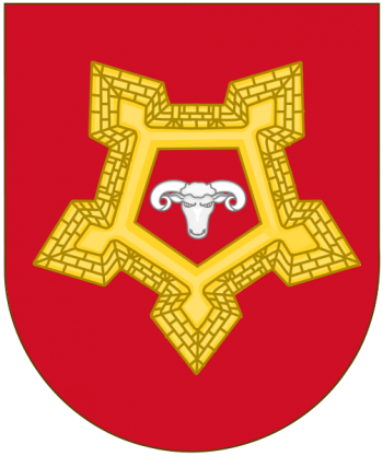 Coat of arms (crest) of the Fortress Defence Course, Spanish Army