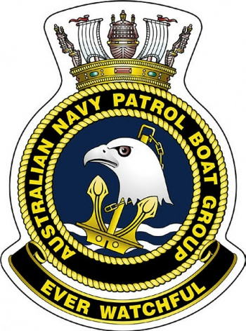 Coat of arms (crest) of the Australian Navy Patrol Boat Group, Royal Australian Navy