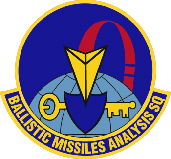 Coat of arms (crest) of the Ballistic Missile Analysis Squadron, US Air Force