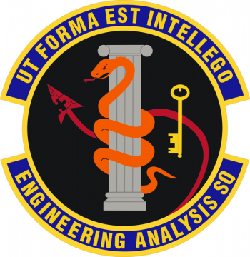 Coat of arms (crest) of the Engineering Analysis Squadron, US Air Force
