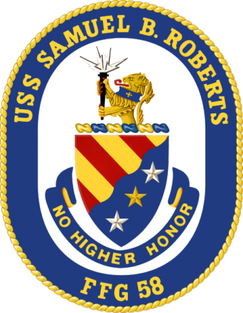 Coat of arms (crest) of the Frigate USS Samuel B. Roberts (FFG-58)