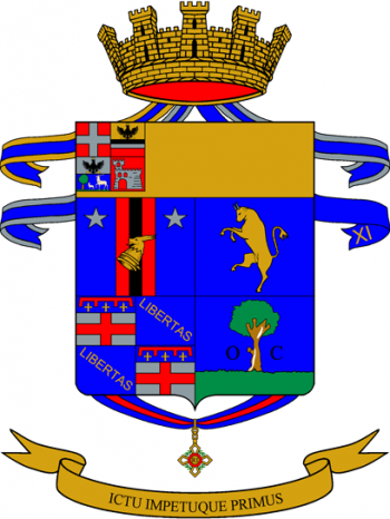 Coat of arms (crest) of the 1st Bersaglieri Regiment, Italian Army
