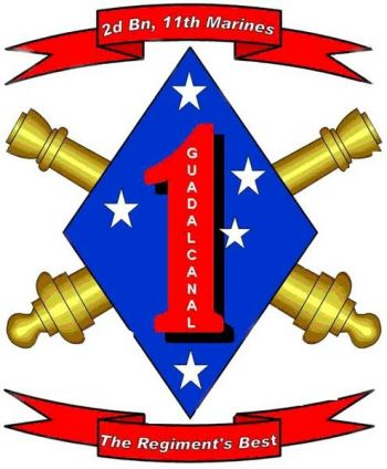 Coat of arms (crest) of the 2nd Battalion, 11th Marines, USMC
