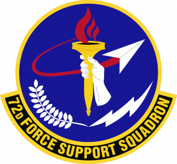 Coat of arms (crest) of the 72nd Force Support Squadron, US Air Force